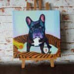 Tierportrait Französische Bulldogge von Jacqueline Kuhn alias JacquiHirsch