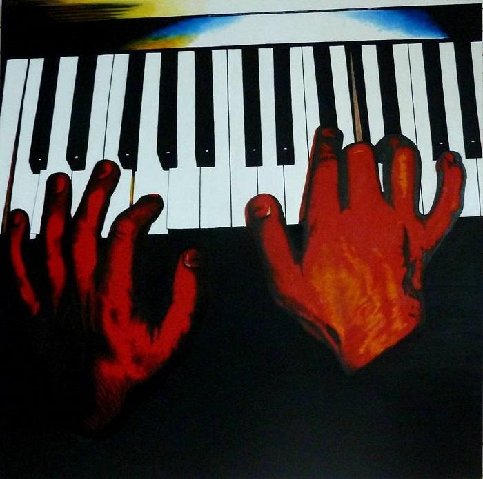 Piano Fingers Ölgemälde JacquiHirsch