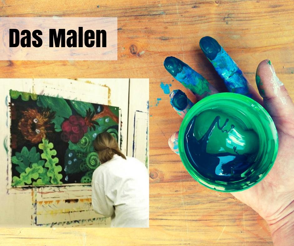 Freude am Malen im Atelier Leben