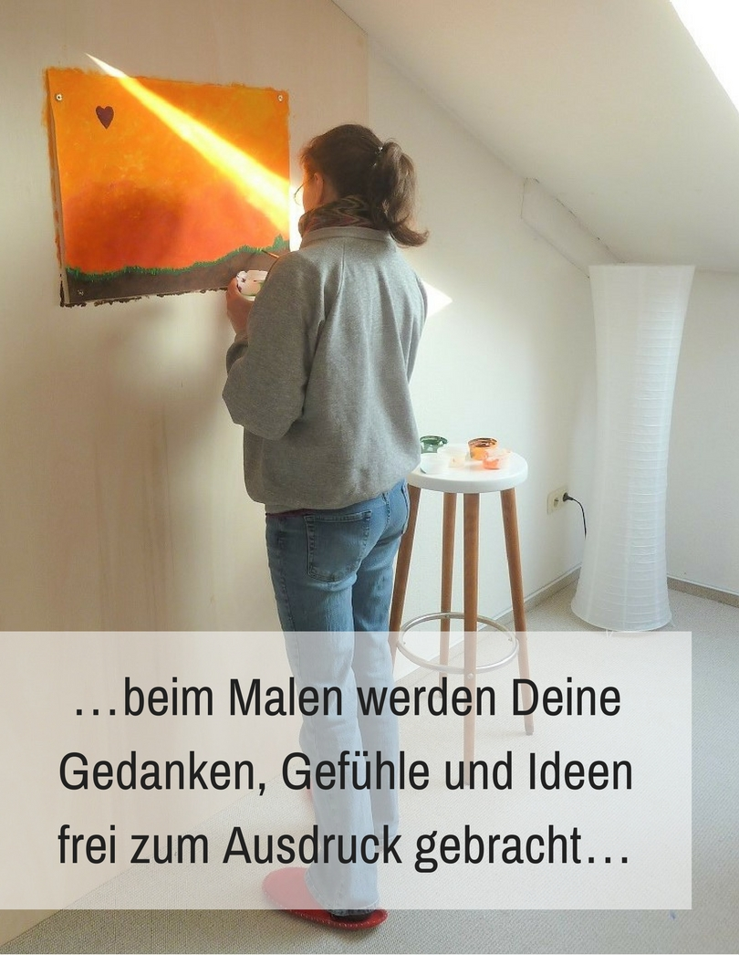 Freies, intuitives Malen im Atelier Leben