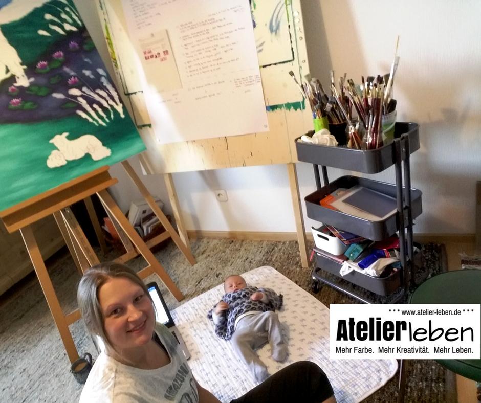 Atelier Leben Fehlgeburt malend verarbeiten