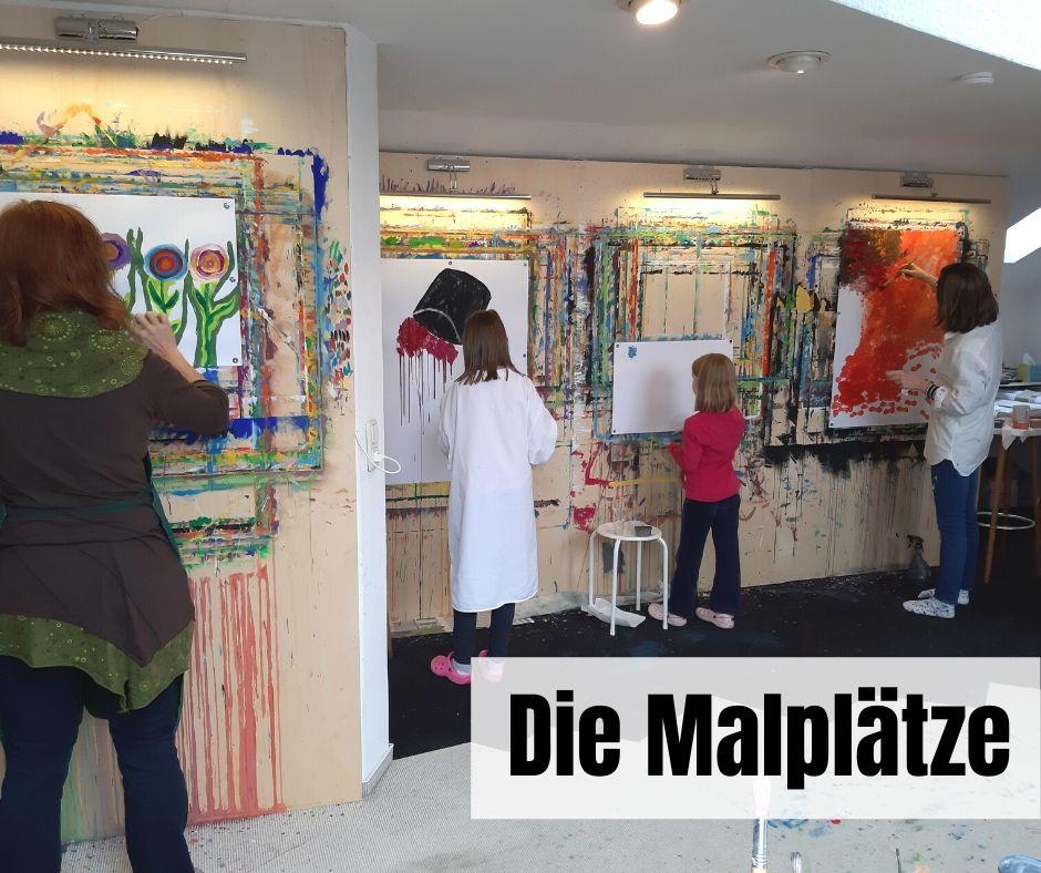 Malen im Atelier Leben