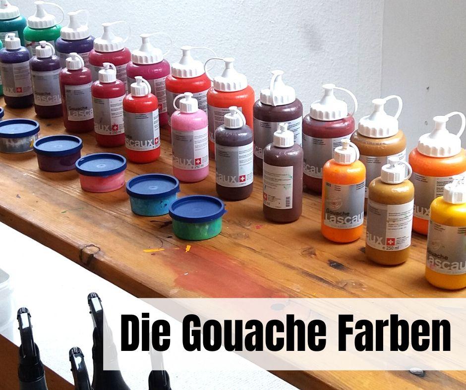 Gouache Farben im Atelier Leben