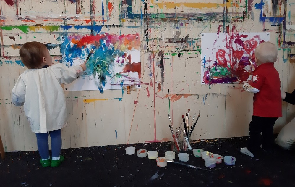 Malen mit Kindern bei Aschaffenburg